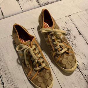 Coach signature Wedge Sneakers size 9.5